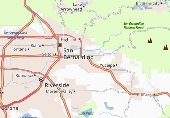 Kaart Plattegrond Redlands