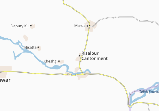 Carte-Plan Risalpur Cantonment