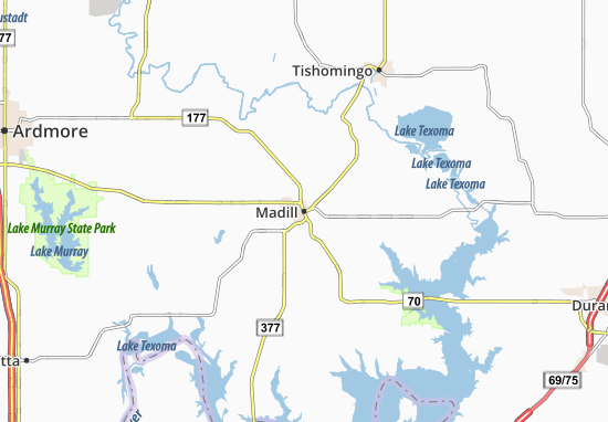 Madill Map