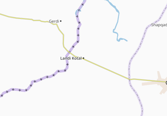 Carte-Plan Landi Kotal