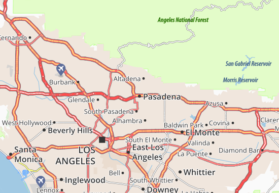 Pasadena Map