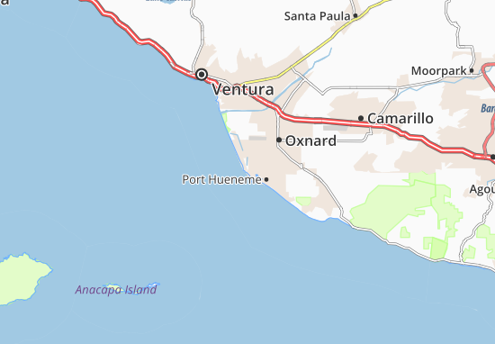 Channel Islands Beach Map