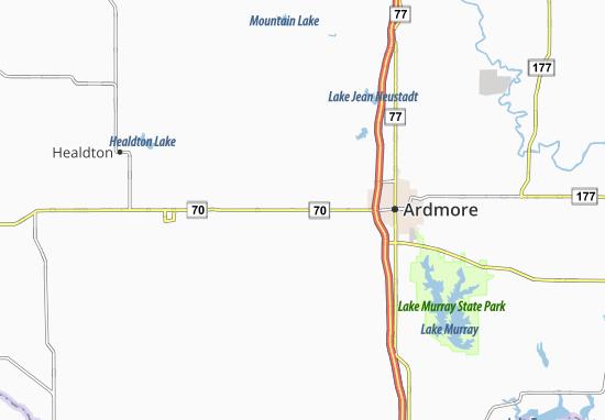Lone Grove Map