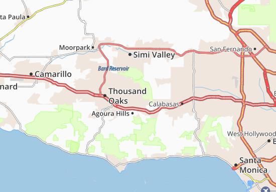Oak Park Map: Detailed maps for the city of Oak Park - ViaMichelin Calabasas Map on