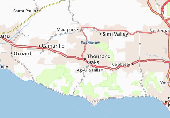 Map Of Thousand Oaks Michelin Thousand Oaks Map ViaMichelin - Thousand oaks map