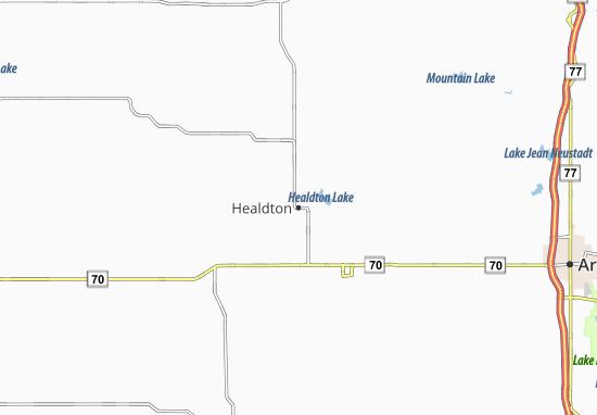 Healdton Map