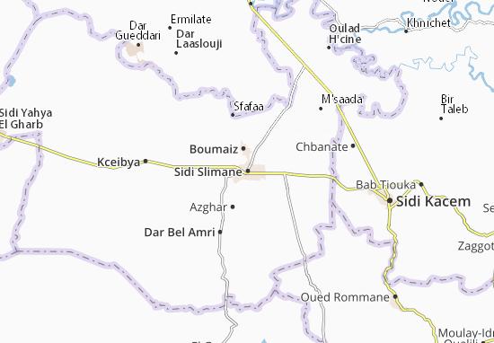 Mapas-Planos Sidi Slimane