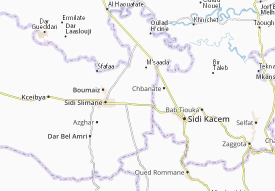 Carte-Plan Oulad Ben Hammadi