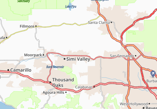 Simi Valley Map Map of Simi Valley   Michelin Simi Valley map   ViaMichelin