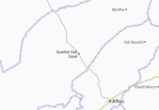 Carte-Plan Gueltat Sidi Saad