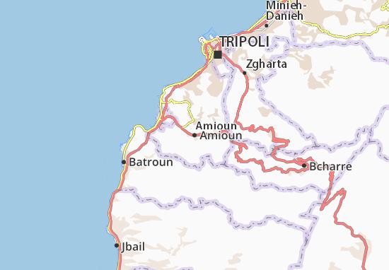 Mapa Plano Amioun
