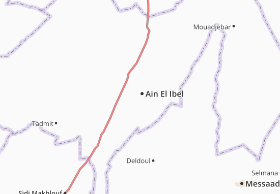 Carte-Plan Ain El Ibel