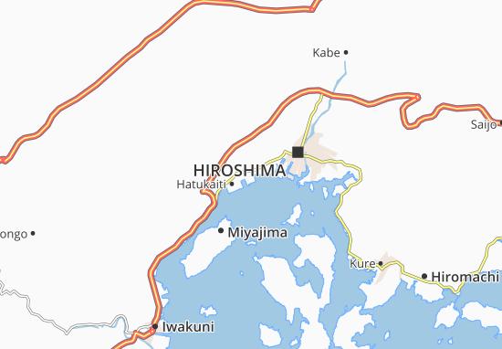 Kaart Plattegrond Itsukaichi