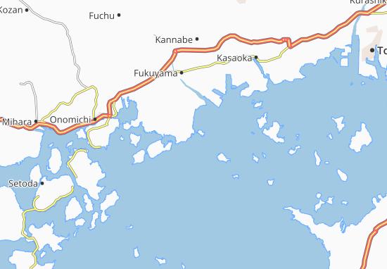 Map Of Tomocho Michelin Tomocho Map ViaMichelin - Fuchu map