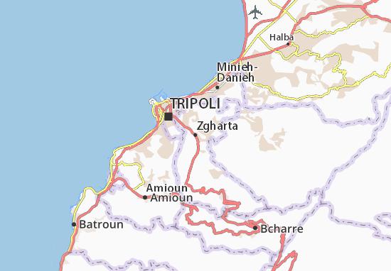 Mapa Plano Zgharta