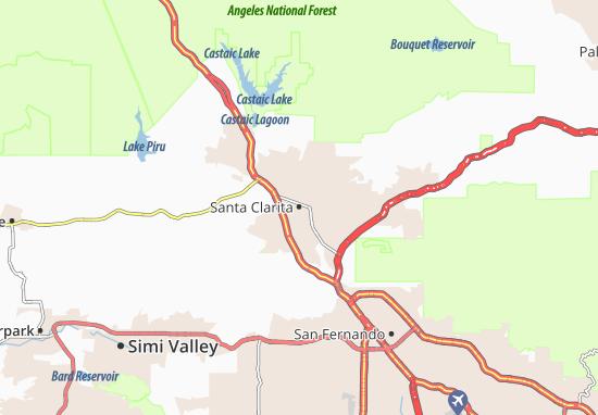 California Map Santa Clarita.Map Of Santa Clarita Michelin Santa Clarita Map Viamichelin