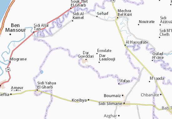 Carte-Plan Dar Gueddari