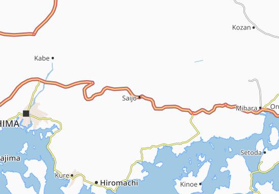 Saijo Map
