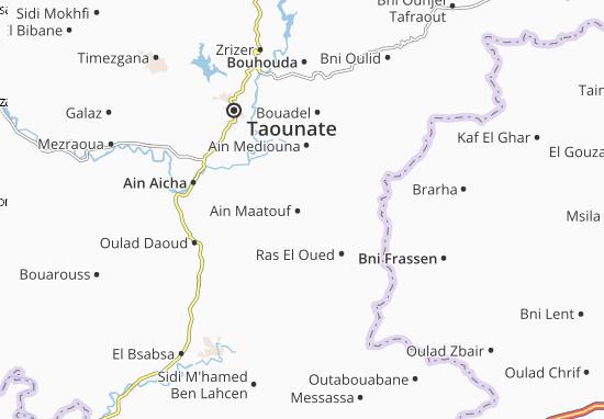 Carte-Plan Ain Maatouf