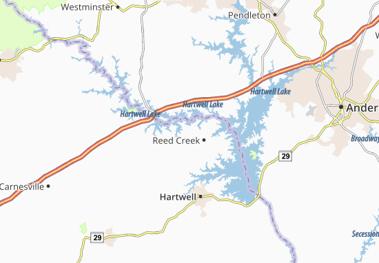 Reed Creek Map