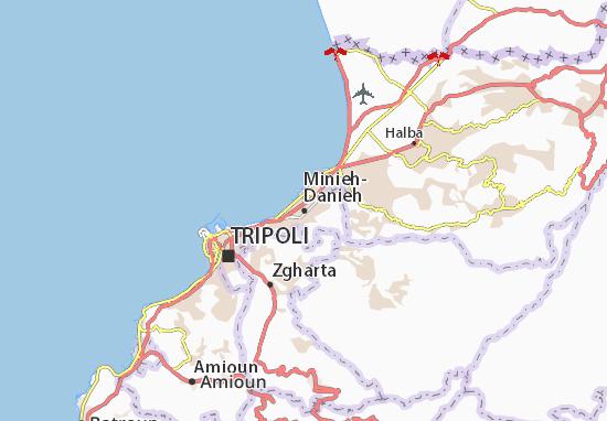 Mapa Plano Minieh-Danieh