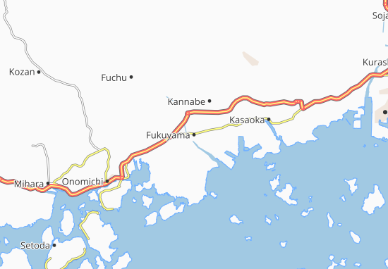Map Of Fukuyama Michelin Fukuyama Map ViaMichelin - Fuchu map