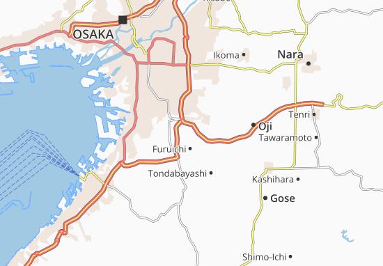 Kaart Plattegrond Fujiidera