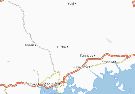 Map Of Fuchu Michelin Fuchu Map ViaMichelin - Fuchu map