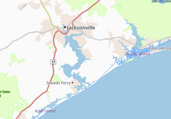 Camp Lejeune Map: Detailed maps for the city of Camp Lejeune ... on