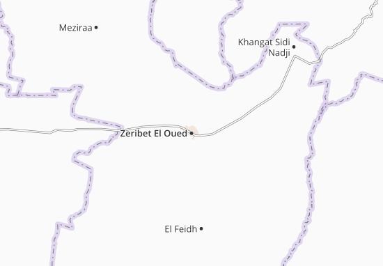 Carte Algerie El Oued.Carte Detaillee Zeribet El Oued Plan Zeribet El Oued