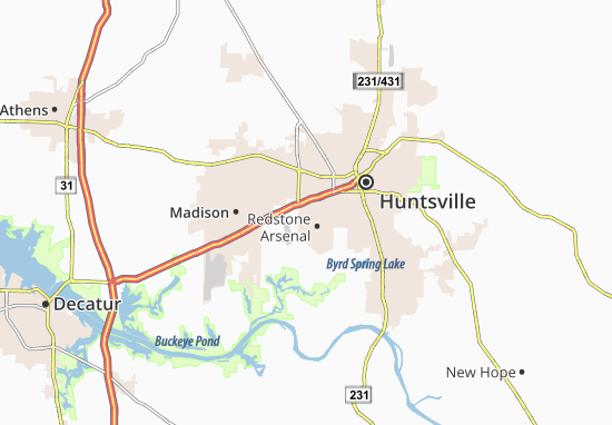 Redstone Arsenal Map