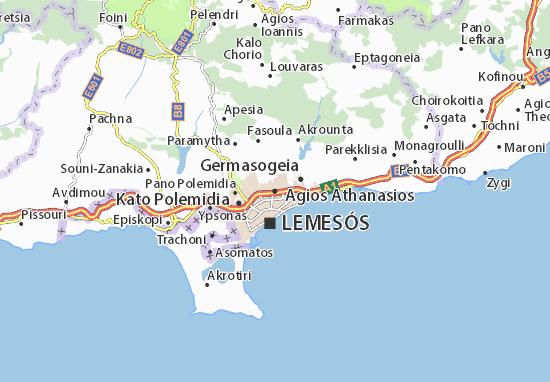 Carte-Plan Agios Athanasios