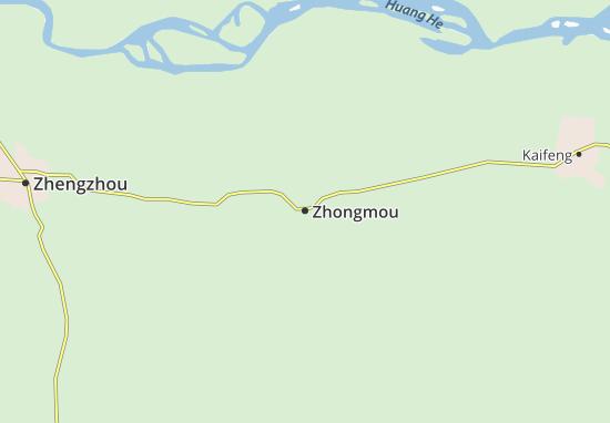 Kaart Plattegrond Zhongmou