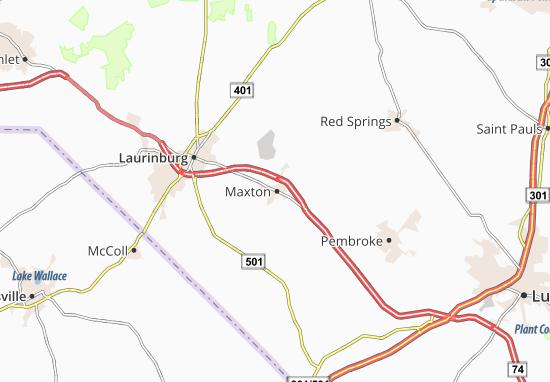Maxton Nc Map.Map Of Maxton Michelin Maxton Map Viamichelin