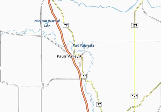 Carte-Plan Pauls Valley