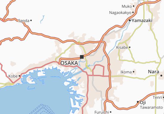 Carte-Plan Osaka
