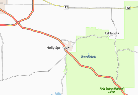 Holly Springs Map