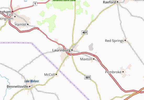 Laurinburg Map