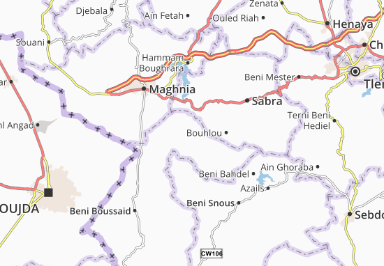 Carte-Plan Sidi Medjahed