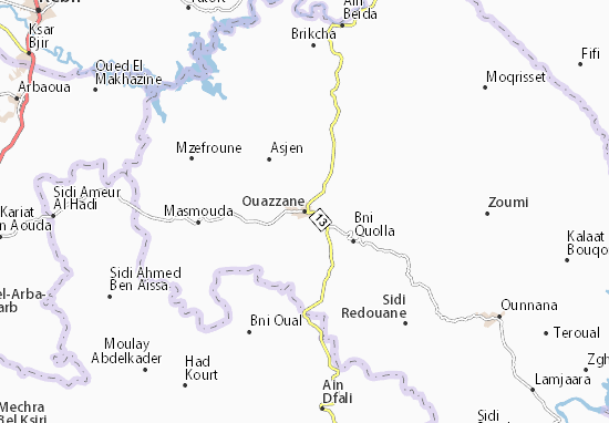 Mapa Plano Ouazzane