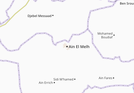 Carte-Plan Ain El Melh