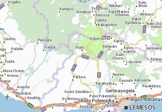 Karte Stadtplan Mandria