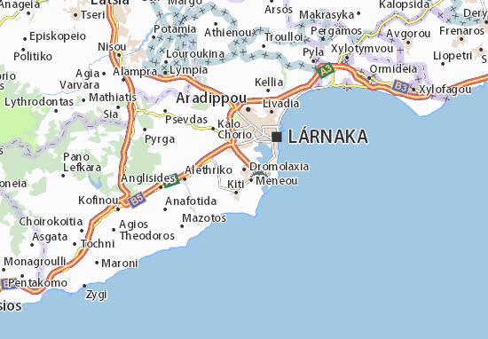 Dromolaxia Map