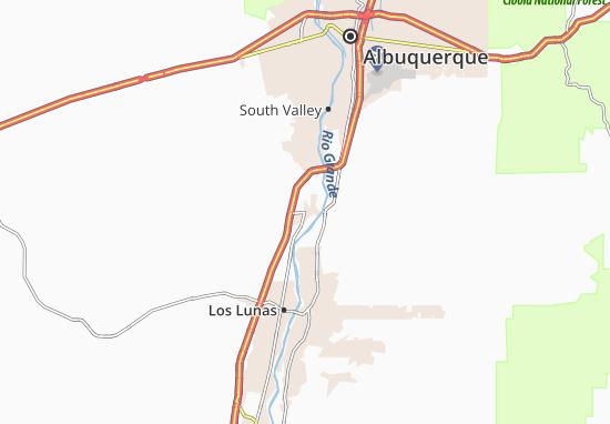 Pueblo New Mexico Map.Map Of Isleta Pueblo Michelin Isleta Pueblo Map Viamichelin