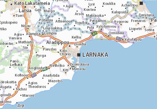 Karte Stadtplan Lárnaka