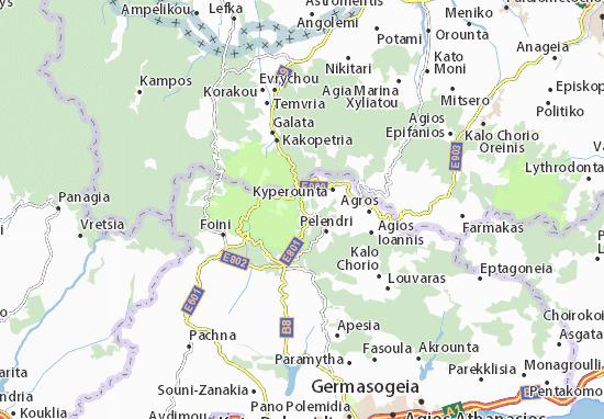 Karte Stadtplan Kato Amiantos