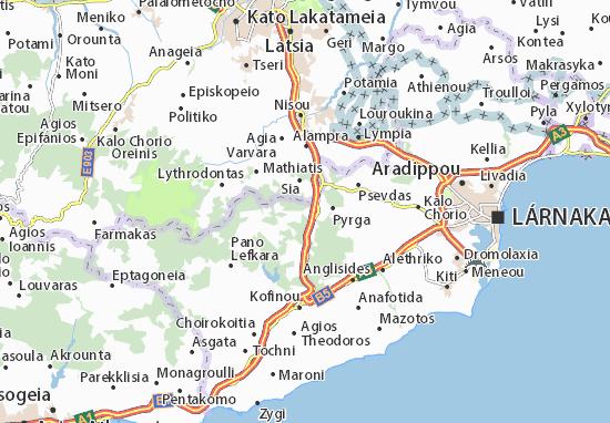 Karte Stadtplan Kornos