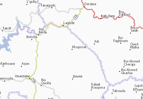 Mapa Plano Moqrisset