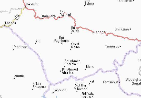 Carte-Plan Oued Malha