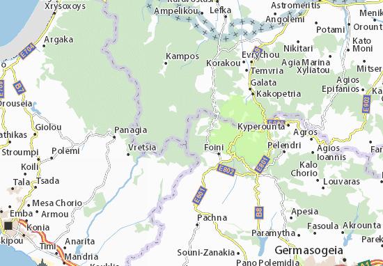 Karte Stadtplan Kaminaria